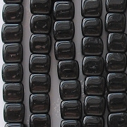5x7mm Black Cube Beads [50]