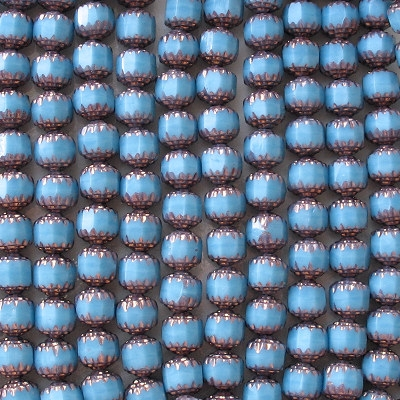 8mm Baby Blue Faceted Cathedral Beads [20]