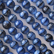 6mm Blue Tiger Beads [50]