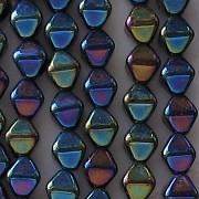 6mm Dark Blue Iris Bicone Beads [50]
