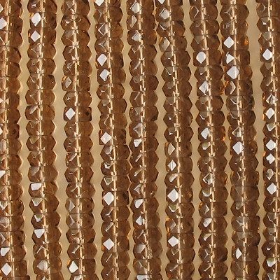 3x6mm Brown Faceted Rondelle Beads [50]