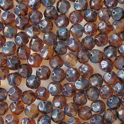 9mm Clear Picasso Faceted Nugget Beads [15]