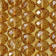 6x9mm Light Topaz Picasso Faceted Rondelle Beads [25]