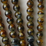 6mm Dark Brown Tiger Beads [50]