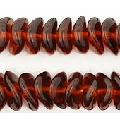 4x9mm Dark Topaz (Brown) Wavy Rondelle Beads [50]