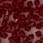 4mm Dark Red Bicone Cut-Crystal Beads [50]