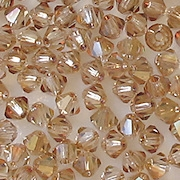 4mm Celsian Cut-Crystal Bicone Beads [50]