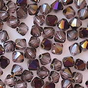 4mm Amethyst Iris Cut-Crystal Bicone Beads [50]