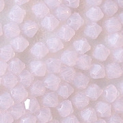 4mm Milky Light Pink Cut-Crystal Bicone Beads [50]
