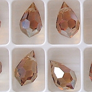 15mm Celsian Cut-Crystal Teardrop Beads [5]