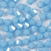 4mm Opaque Baby Blue Cut-Crystal Bicone Beads [50]