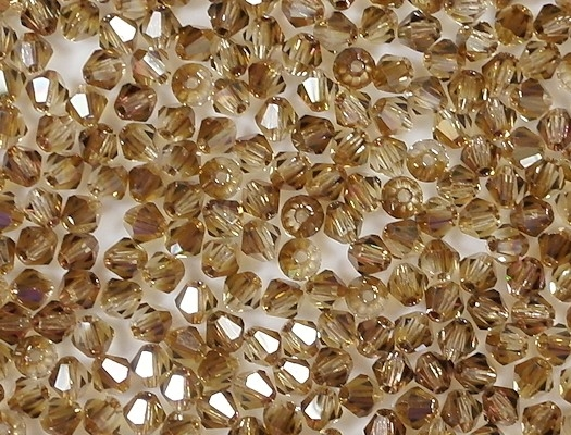 4mm Brown Cut-Crystal Bicone Beads [50]