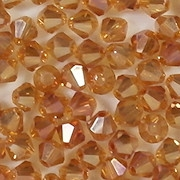 4mm Topaz Iris Cut-Crystal Bicone Beads [100]