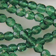 6mm Prairie Green Faceted Beads [50]