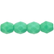 4mm Greenish-Turquoise Faceted Round Beads [100]
