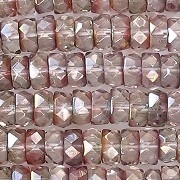 3x6mm 'Crystal Monet' Faceted Rondelle Beads [50]