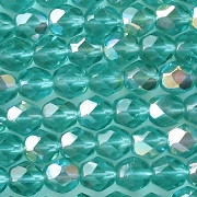 6mm Light Teal AB Faceted Beads [50]
