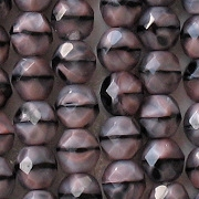 8mm 'Pink Granite' Faceted Round Beads [50]