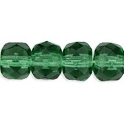 4x6mm 'Prairie' Green Faceted Rondelle Beads [50]