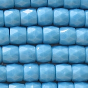 7x8mm Bluish-Turquoise Faceted Barrel Beads [25]