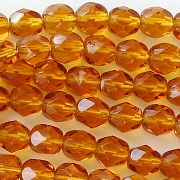 6mm Topaz Faceted Beads [50]
