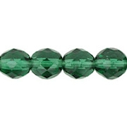 8mm 'Prairie' Green Faceted Round Beads [50]