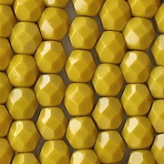 6mm Goldenrod Yellow Faceted Round Beads [50]