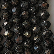 5x6mm Black Bronze-Picasso Rosebud Faceted Beads [50]