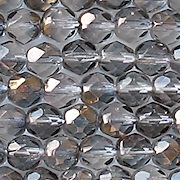 6mm Gray/Bronze Luster Faceted Round Beads [50]