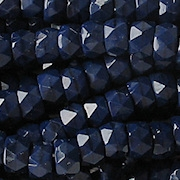 4x6mm Opaque Navy Blue Faceted Pony Beads [50]