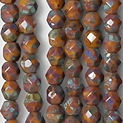 4mm Goldenrod Picasso Faceted Beads [100] (see Comments)