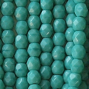 4mm Turquoise Faceted Round Beads [100]
