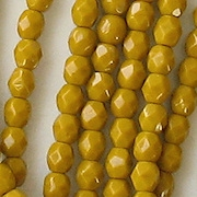 4mm Goldenrod Yellow Faceted Round Beads [100]