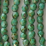 4mm Turquoise Picasso Faceted Beads [100]