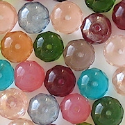 6x9mm Mixed Faceted Rondelle Beads [25]