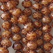 5x6mm Brown Picasso Faceted Rosebud Beads [50]