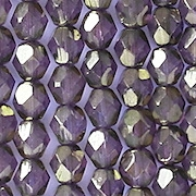 6mm Violet Bronze Faceted Round Beads [50]
