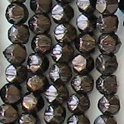 4mm Chocolate Brown/Bronze 'English Cut' Faceted Beads [100]