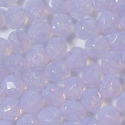 6mm Violet Opalescent Faceted Round Beads [50]