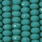 4x7mm Turquoise Faceted Rondelle Beads [50]