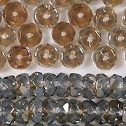 4x6mm Light Sapphire/Celsian Faceted Rondelle Beads [50]