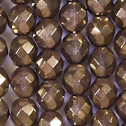 8mm Bronze/Purple Faceted Round Beads [25]