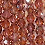 6mm French Rose Celsian Faceted Round Beads [50]