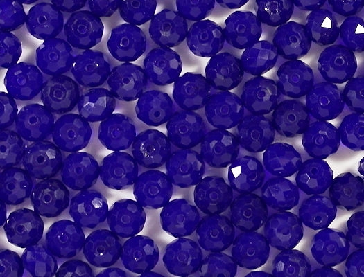 6x8mm Dark Blue Faceted Rondelle Beads [50]