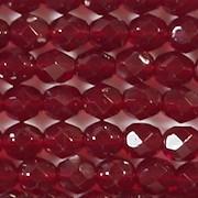 6mm Medium Garnet Red Faceted Round Beads [50]