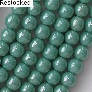 6mm Turquoise Luster Beads [50]