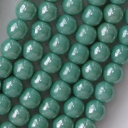 6mm Turquoise Luster Round Beads [50]