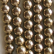 6mm Bronze Glass Beads [50]