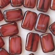 12mm Fuchsia/Pearl Polished Rectangle Beads [20]