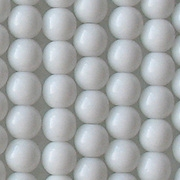 6mm Opaque White Round Beads [50]